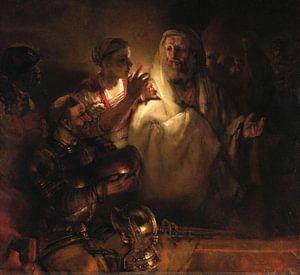 Rembrandt van Rijn. De verloochening van Petrus