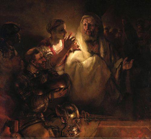 Rembrandt van Rijn. De verloochening van Petrus van 1000 Schilderijen