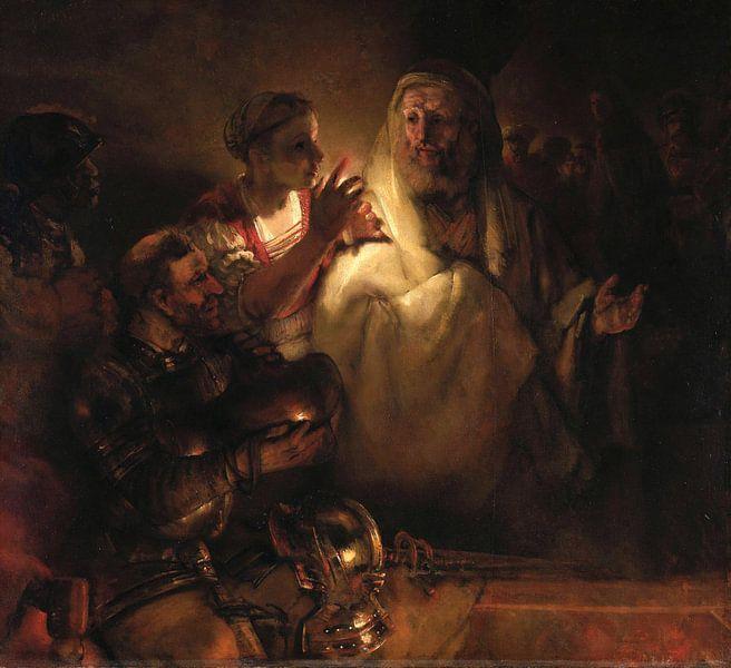 Rembrandt van Rijn. Die Verleugnung Petri von 1000 Schilderijen