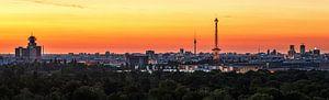 Berlijnse skyline bij zonsopgang van Frank Herrmann