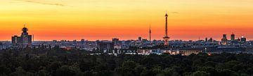 Berlin City Skyline im Sonnenaufgang von Frank Herrmann