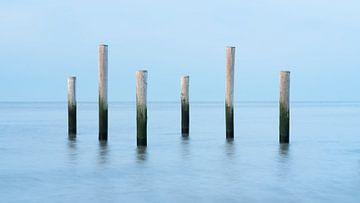 Palen in de noordzee van Simon Bregman