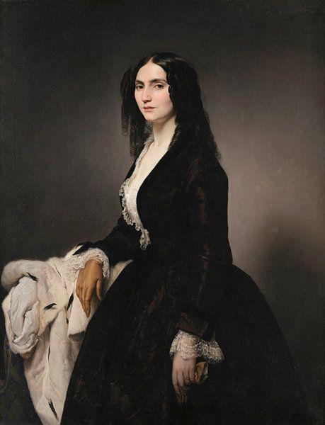 Porträt der Sängerin Matilde Juva Branca, Francesco Hayez von Meesterlijcke Meesters