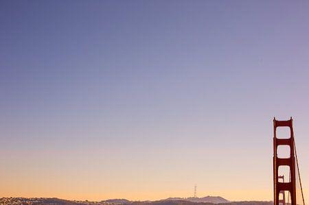 Golden Gate Bridge San Francisco zonsondergang