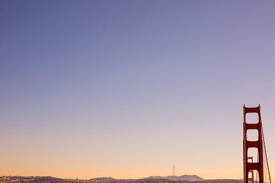 Golden Gate Bridge San Francisco zonsondergang van Erwin van Oosterom