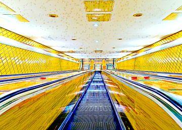 Ondergronds station Gänsemarkt van Leopold Brix