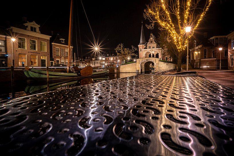 Oud en modern in Sneek bij Waterpoort van Fotografiecor .nl