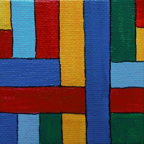 Mini-canvas strepen van Angelique van 't Riet