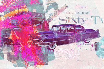 Cadillac 62 1954 Collage von Joost Hogervorst