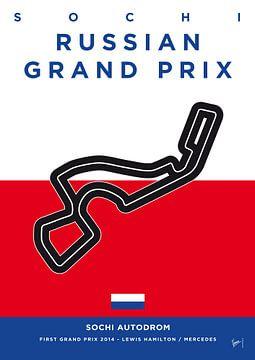 My F1 SOCHI Race Track Minimal Poster van Chungkong Art