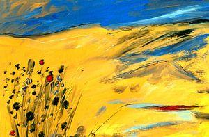 Bloemen in stilte 1 van Claudia Gründler