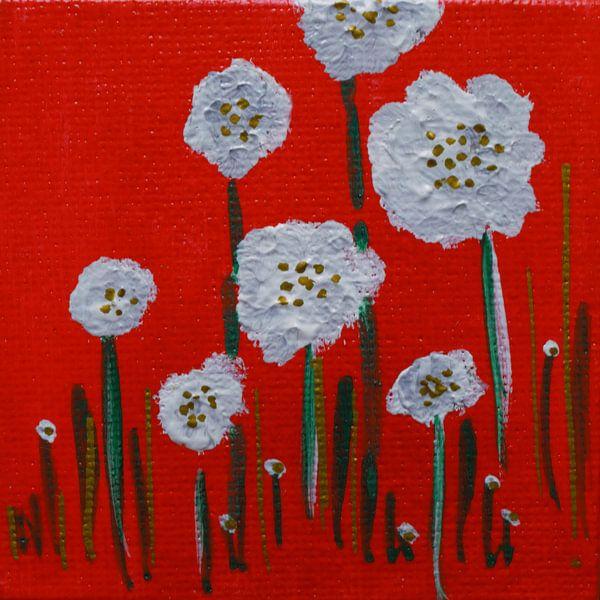 Bloemen mini-canvas van Angelique van 't Riet