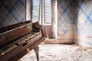 Close-up van Verlaten Piano.