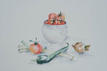 Stilleven met tomaten van Monique Londema