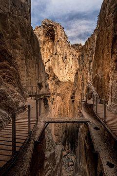 Wanderweg El Caminito del Rey, Spanien. von Hennnie Keeris