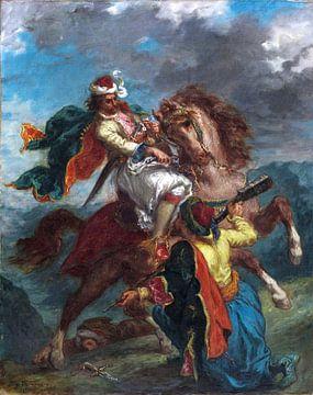 Eugène Delacroix, ein Türke kapituliert vor einem griechischen Reiter - 1856 von Atelier Liesjes