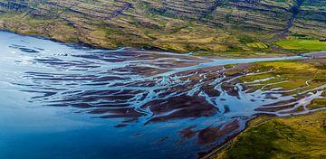 Glacial river delta von Dave Verstappen