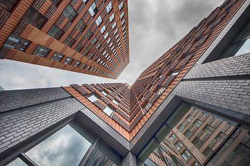 Symphony gebouw op de Zuidas Amsterdam van Peter Bartelings Photography