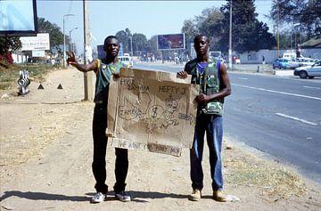 Zambia demonstratie tegen Chiluba van Klaartje Jaspers