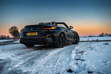 BMW Z4 M40i in de sneeuw van Jarno Lammers