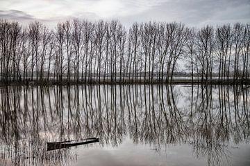 Halb versunkenes Boot bei Flut. von Ron van der Stappen