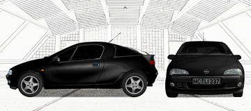 Opel Tigra in zwart & wit van aRi F. Huber