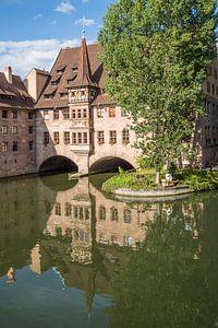 NUREMBERG Hospital of the Holy Spirit & River Pegnitz