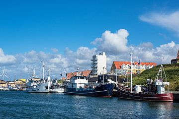 De haven van Hirtshals in Denemarken van Rico Ködder