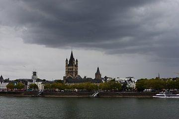 Skyline von Köln von Gerard de Zwaan