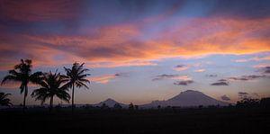 Panorama van vulkaan Gunung Agung van Ellis Peeters