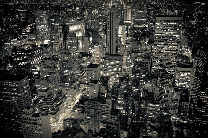 New York by Night van Sander van Leeuwen