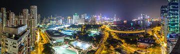 Hong Kong Panorama van Marcel Samson