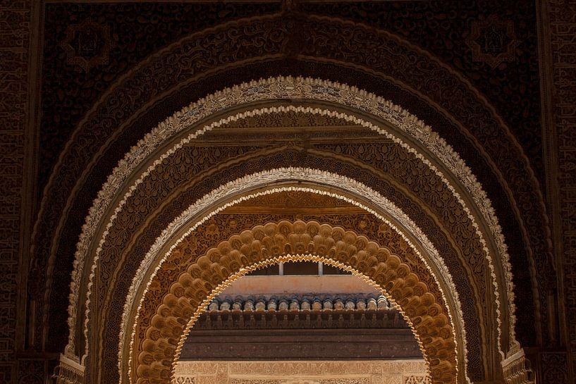 Nasride Palace - La Alhambra de Granada van Atelier Liesjes