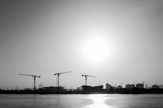 Dubai skyline van Leanne lovink