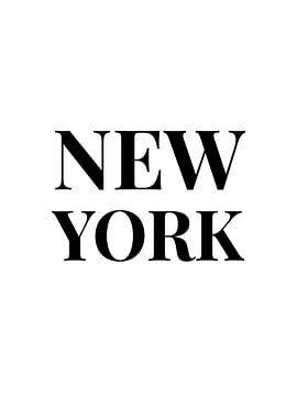 NEW YORK (in schwarz-weiß) von MarcoZoutmanDesign