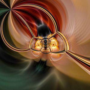Phantasievolle abstrakte Twirl-Illustration 109/7