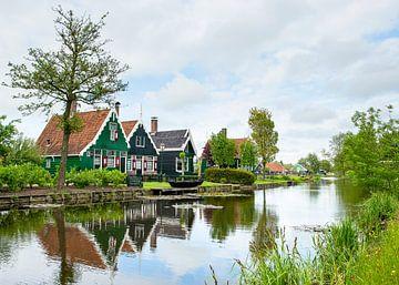 Hollandse huisjes in de Zaanse Schans van Elles Rijsdijk