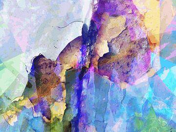 Modern, Abstract Digitaal Kunstwerk – Between the Raindrops van Art By Dominic