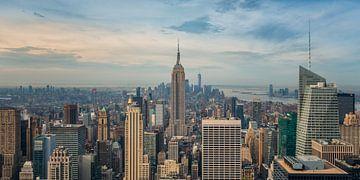 New York - Empire State Building in de vroege ochtend van