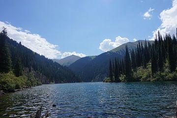See in den Bergen von Kasachstan von Lindy van Oirschot