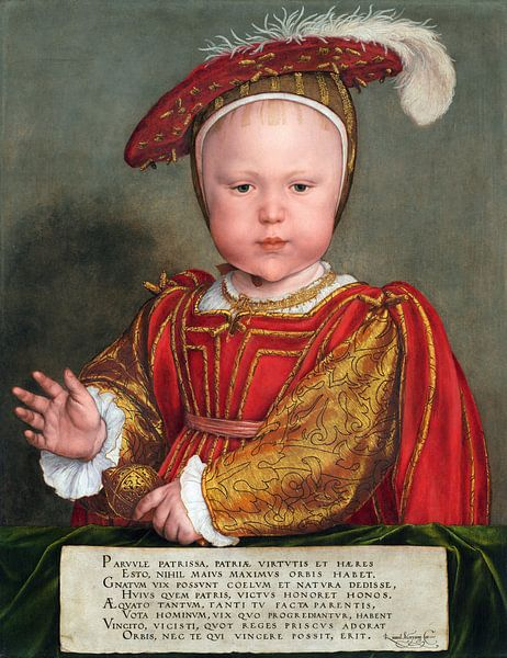 Hans Holbein.Edward VI als Kind von 1000 Schilderijen