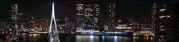 Rotterdam skyline bij nacht van Sander Laurey