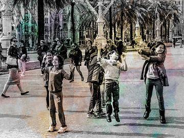 Spelende kinderen van Marcel van Berkel