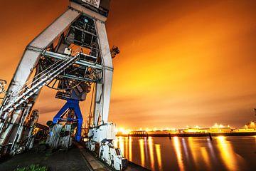 Lightpainting im Hamburger Hafen van Dirk Bartschat