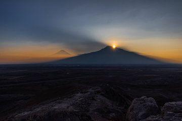 Zonsondergang bij Ararat von Gerard van den Akker