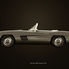 Mercedes 300SL Roadster 1953 S/W von Jan Keteleer