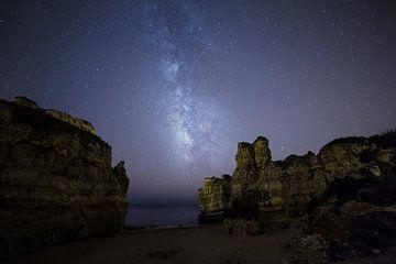 Melkweg boven de Algarve, Portugal van