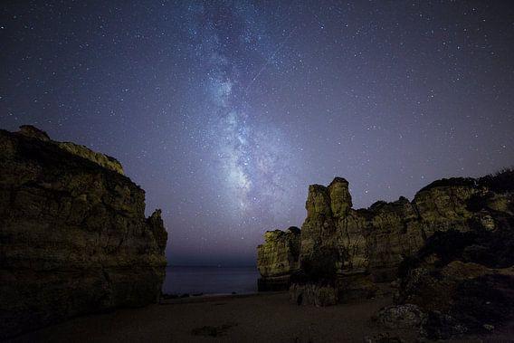 Melkweg boven de Algarve, Portugal