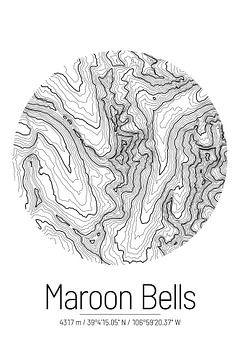 Maroon Bells | Topographie de la carte (minimum) sur City Maps