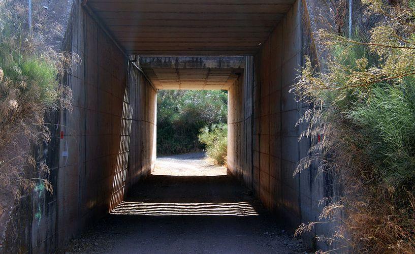 Tunnel onder snelweg. van Jan Katuin